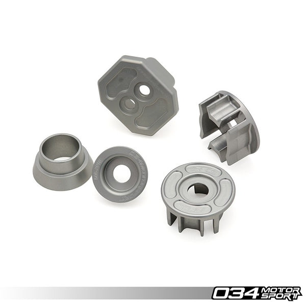 034Motorsport DRIVETRAIN MOUNT INSERT PACKAGE, BILLET ALUMINUM -- Audi (C7) A6/S6/RS6, A7/S7/RS7 -- for Quattro models