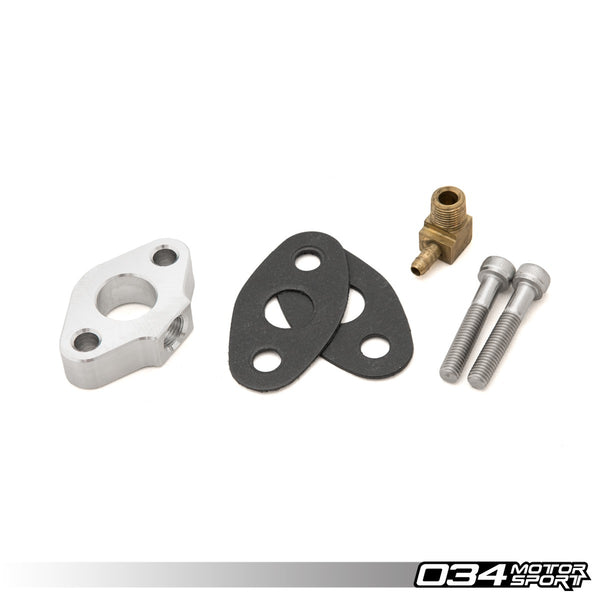 034Motorsport - 034-101-Z003 - FLANGE, CATCH CAN OIL DRAIN FLANGE ADAPTER -- Audi & Volkswagen 1.8T or 2.0T FSi engines
