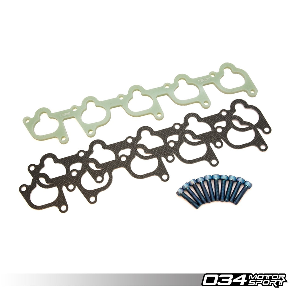 034Motorsport INTAKE MANIFOLD SPACER, PHENOLIC -- Audi (B3) S2, (B4) RS2, (C4) S4/S6: with I5 20V engines