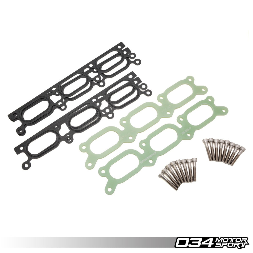 034Motorsport - 034-108-9003 - INTAKE MANIFOLD SPACER, PHENOLIC -- Audi (B5) A4, (C5) A6, AllRoad; Volkswagen (B5) Passat -- with 2.7T & 2.8L 30V engines