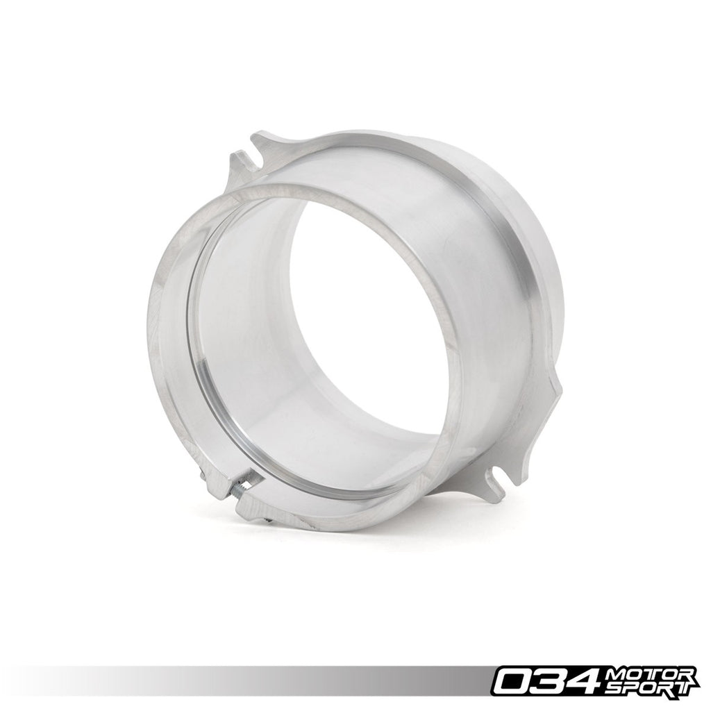 034Motorsport - 034-108-6001 - MAF HOUSING ADAPTER, 2.7T BILLET 85MM HOUSING TO RS4 AIRBOX -- Audi (B5) S4/RS4; (C5) A6 & Allroad: with 2.7T engines and 85mm MAF Housing