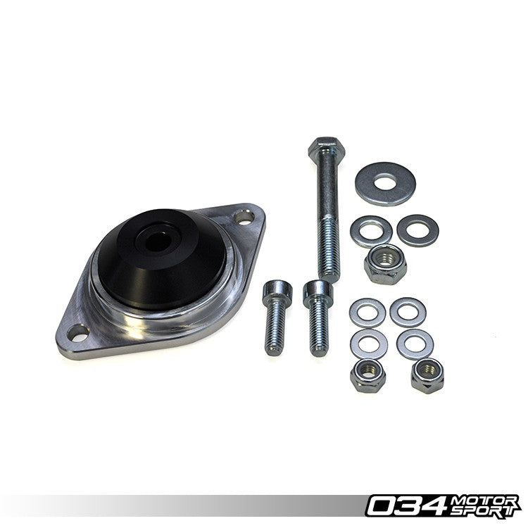 034Motorsport TRANSMISSION/DIFFERENTIAL MOUNTS, MOTORSPORT SPEC, BILLET ALUMINUM & DELRIN -- Early Audi through 1996