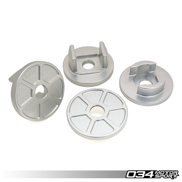034Motorsport - 034-601-0035 - BILLET ALUMINUM REAR SUBFRAME MOUNT INSERT KIT -- Audi (B8/B8.5) S4/RS4, S5/RS5, Q5/SQ5; (C7) S6