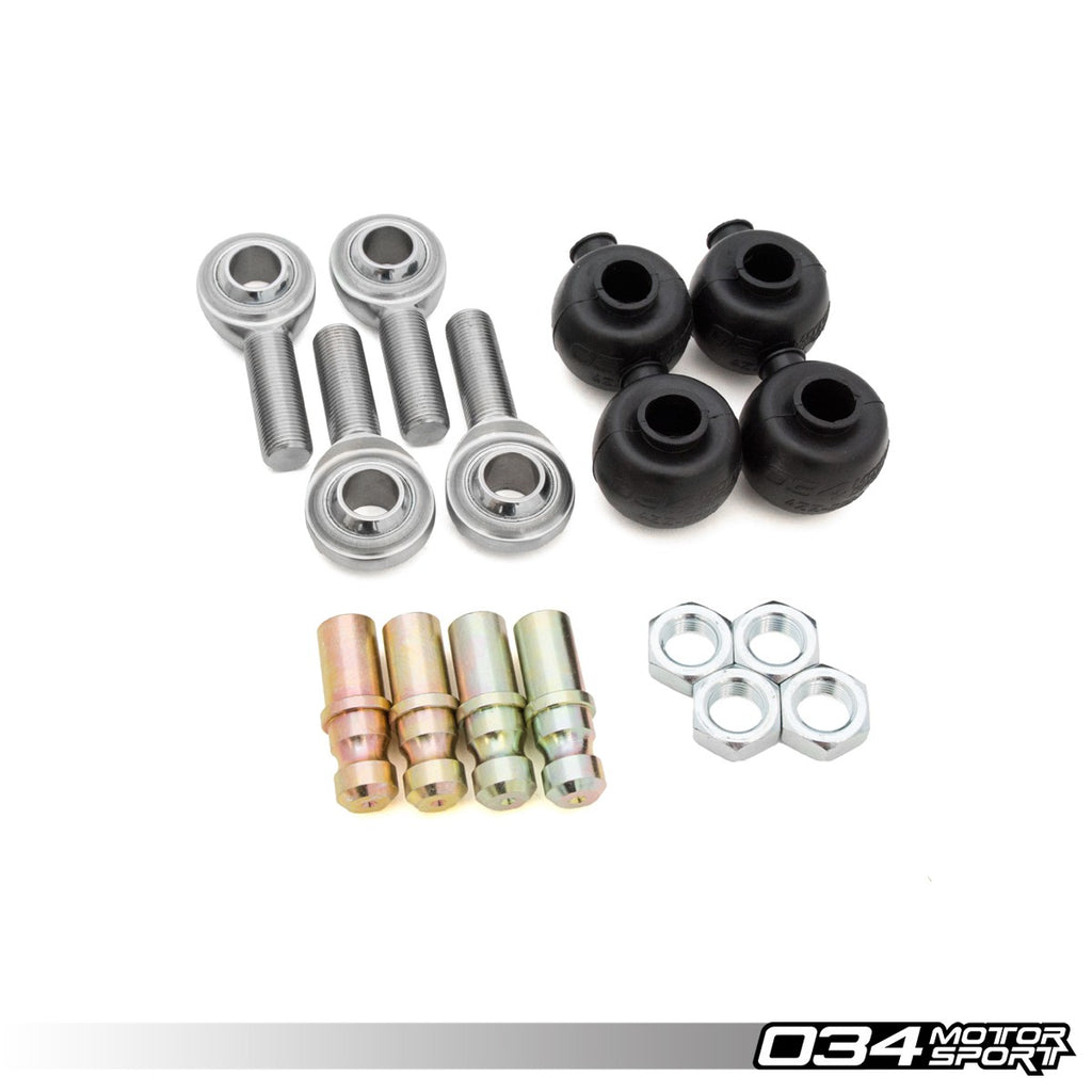 034Motorsport REBUILD KIT, ADJUSTABLE FRONT UPPER CONTROL ARM HEIM JOINTS -- Audi (C5) A6/S6/RS6