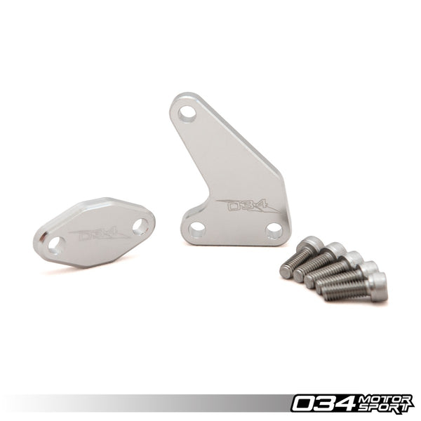 034Motorsport - 034-104-3002 - SAI BLOCKOFF PLATE KIT, SECONDARY AIR INJECTION DELETE -- for 2.8L/2.7T V6, BELT DRIVE 40V V8