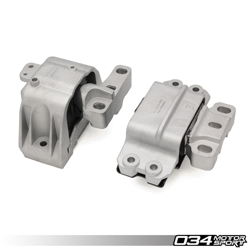 034Motorsport MOTOR MOUNT PAIR, STREET DENSITY -- Audi (Mk2) A3; Volkswagen (Mk5/Mk6) Golf, Jetta -- with 2.0 TDi engines