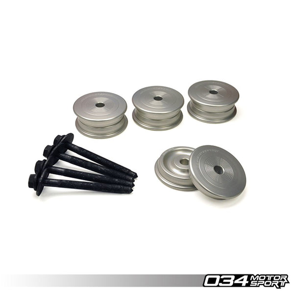 034Motorsport - 034-601-0011 - SUBFRAME BUSHING KIT, BILLET ALUMINUM, REAR -- Audi (B6/B7) A4/S4/RS4