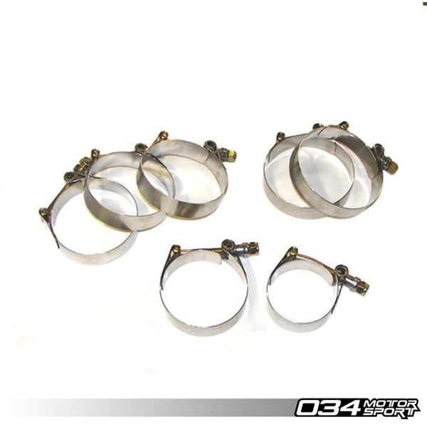 034Motorsport - 034-112-Z004 - INTERCOOLER HOSE T-BOLT CLAMP KIT -- Audi (C4) S4/S6, UrS4/UrS6 with AAN I5 2.2T 20v engines