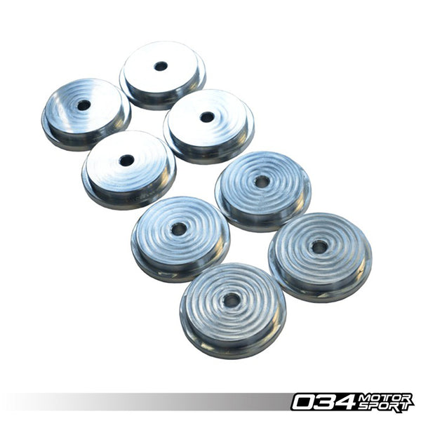 034Motorsport - 034-601-0005 - SUBFRAME BUSHINGS, REAR, BILLET ALUMINUM -- Audi (B4) RS2, (B5) A4/S4/RS4