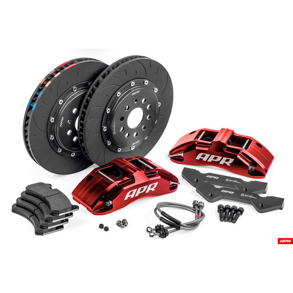 APR - BRK00003 - 350x34mm 6 PISTON BRAKES (RED) - Mk7 Golf R