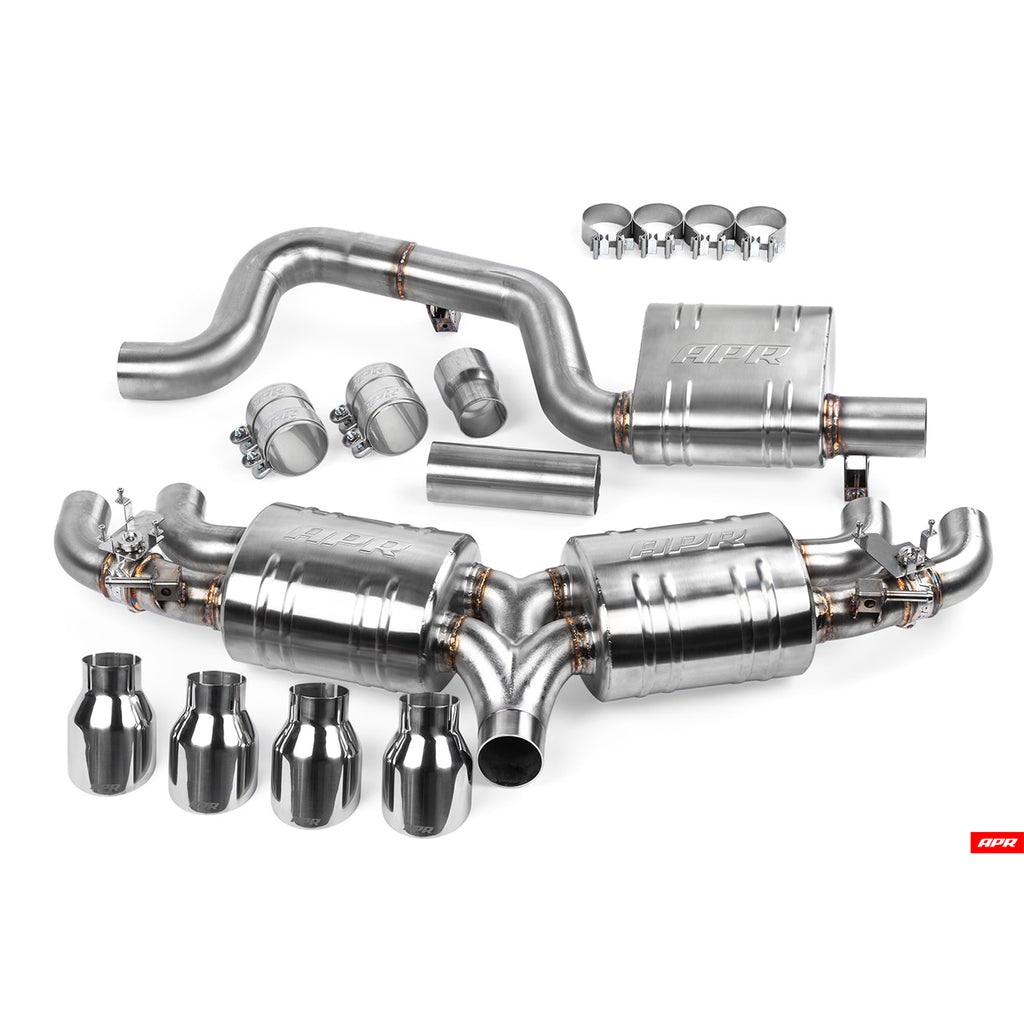 APR - CBK0017 - CATBACK EXHAUST SYSTEM -- VW Golf R Hatchback MK7.5 (Typ 5G) (Post-Facelift)