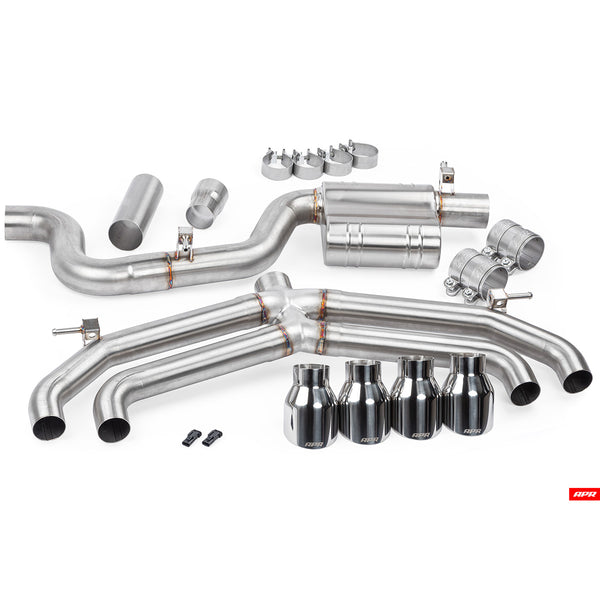 APR - CBK0020 - CATBACK EXHAUST SYSTEM without valves and rear mufflers -- VW Golf R MK7.5 (Typ 5G) (Post-Facelift)