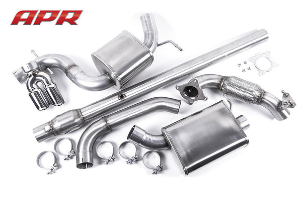 APR MK6 GLI RSC Turboback Exhaust System - Stainless Steel Tips