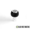 BFI -- GS2 -- Heavy Weight Shift Knob - Black Air Leather/Bright Aluminum (VW/Audi Fitment)