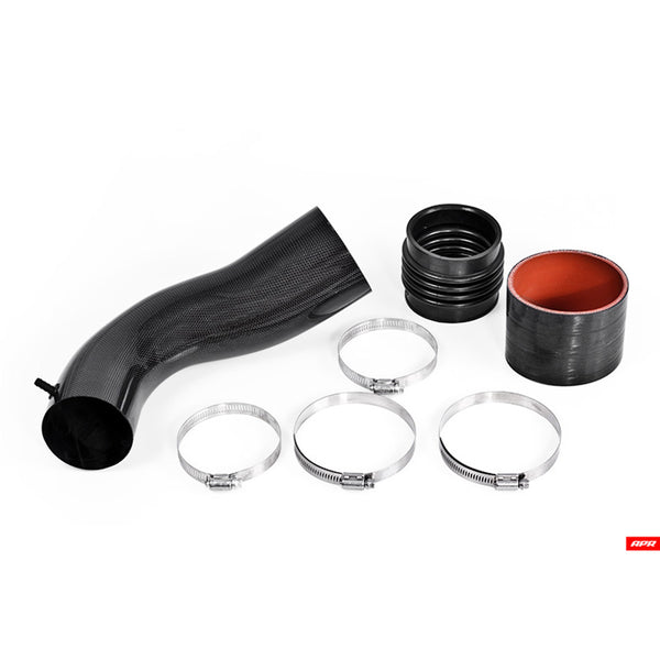 APR - CI100024 - CARBONIO CARBON FIBER INTAKE SYSTEM (Stage II Upgrade) REAR BACKPIPE ONLY -- Audi (B8/B8.5) A4, A5, Q5 -- 3.0 TFSI engines