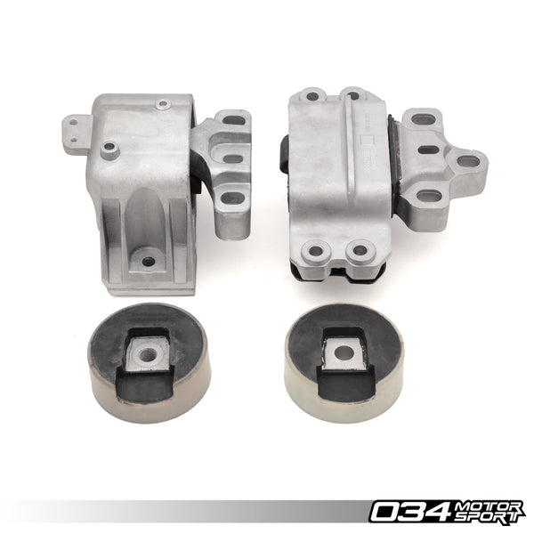 034Motorsport MOTOR MOUNT SET, DENSITY LINE -- Audi (Mk2) A3 & TT/TTS; Volkswagen (Mk5) Golf, R32, Jetta & Eos -- with 3.2L 24v VR6 engines