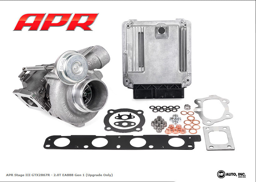 APR - T3100059 - STAGE III GTX TURBOCHARGER SYSTEM -- 2.0T EA888 Gen1 (Upgrade ONLY:  For Existing APR Stage III GT2860RS or GT3017R Customers) - Includes Software*