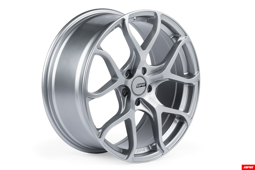 APR FLOW-FORMED WHEELS, HYPER SILVER --  5X112 Bolt Pattern (1 Wheel)