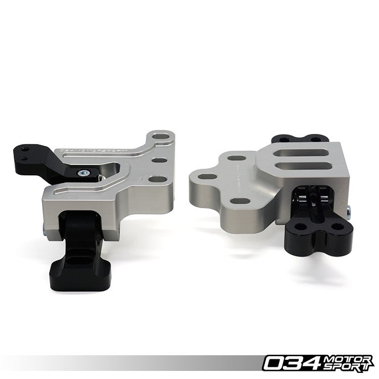 034Motorsport BILLET ALUMINUM MOTORSPORT ENGINE/TRANSMISSION MOUNT PAIR -- Audi (Mk2) A3 & TT; Volkswagen (Mk5/Mk6) Golf/GTi, Jetta/GLi -- 2.0T FSi/2.0 TSi (6-MT & DSG) vehicles