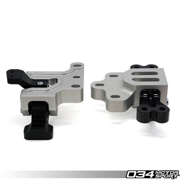 034Motorsport - 034-509-5016 - BILLET ALUMINUM MOTORSPORT ENGINE/TRANSMISSION MOUNT PAIR -- Audi (Mk2) A3 & TT; Volkswagen (Mk5/Mk6) Golf/GTi, Jetta/GLi -- 2.0T FSi/2.0 TSi (6-MT & DSG) vehicles
