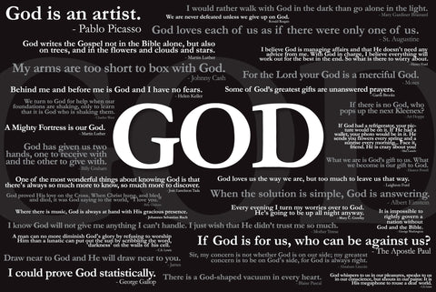 God Quotes - Christian Posters
