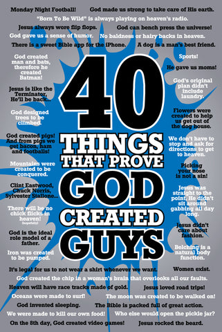 God Created Guys - Christian Posters