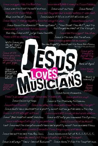 Jesus Loves Musicians - Christian Posters