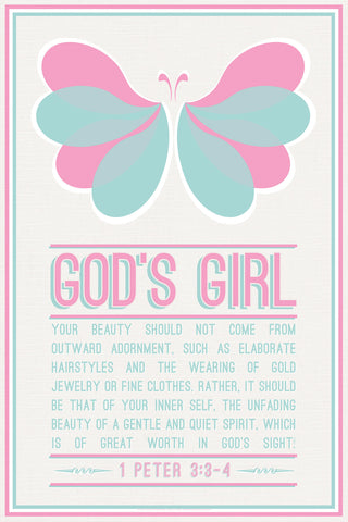 Butterfly Girl - Christian Posters