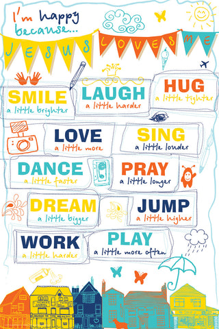 Happy Life - Christian Posters