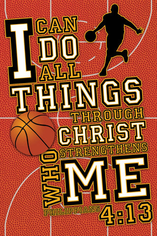 I Can - Basketball - Christian Posters