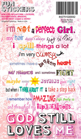 Not a Perfect Girl - Christian Stickers