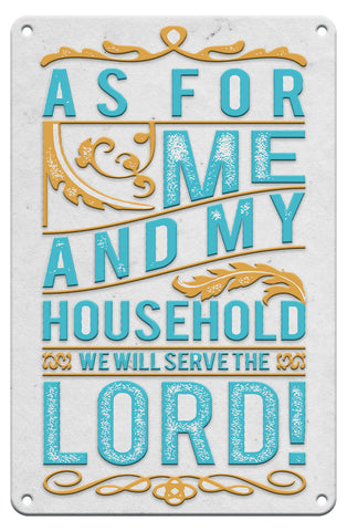 Serve the Lord - Christian Tin Signs