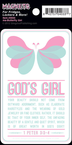 Butterfly Girl - Christian Magnet