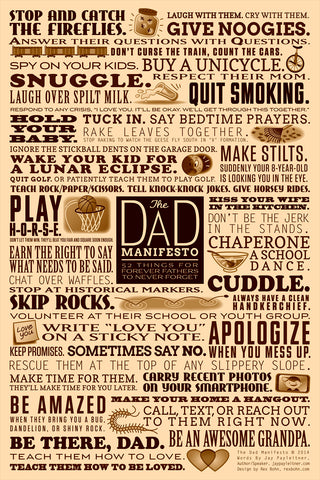 Dad Manifesto - Christian Posters