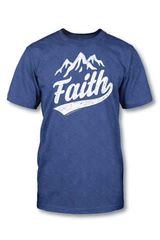 Faith - Christian TShirt  Standard Cut  Our Standard Cut TShirt is a classic graphic tee that is perfect for men and women! It is a ring-spun, cotton tee.  Available in Small, Medium, Large, X-Large, and 2X-Large.  © 2015 Slingshot Publishing