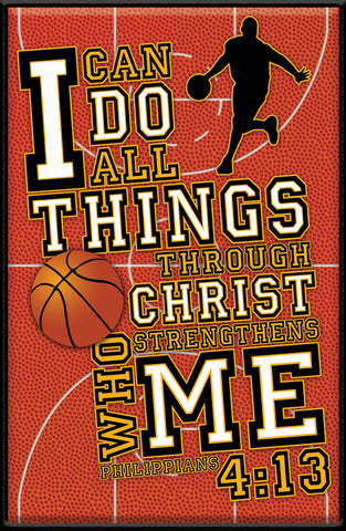 I Can - Basketball - Christian Plaques
