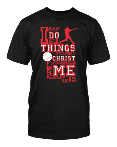 I Can - Baseball - Standard Cut Christian TShirt