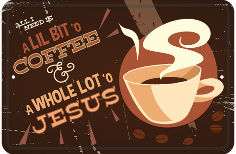 Coffee - Christian Tin Signs