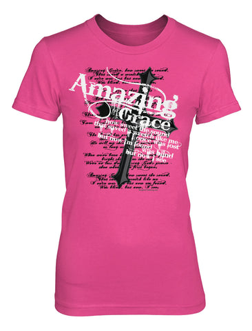 Amazing Grace - Girls Cut Christian TShirt