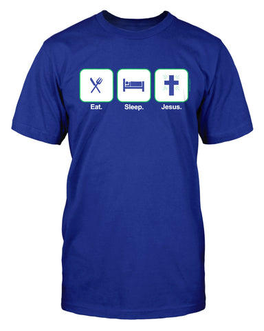 Eat Sleep Jesus -  Standard Cut Christian TShirt