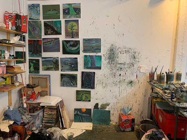 Tsailing Tseng work in progress / studio view