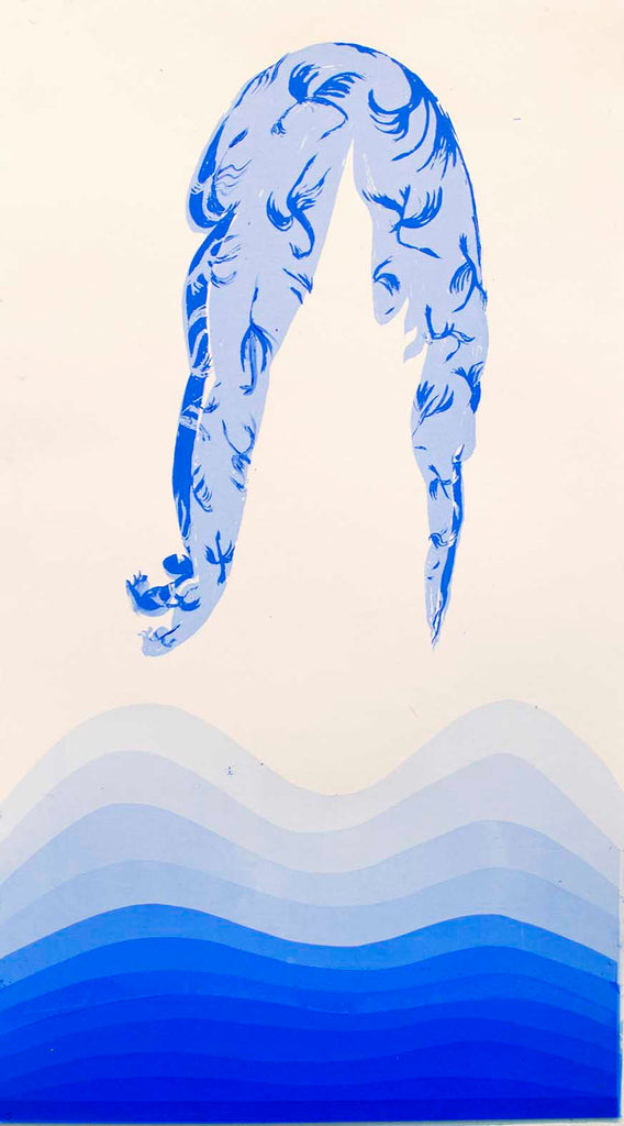 Aparna Sarkar Dive 2019 Screenprint 17x9.5""