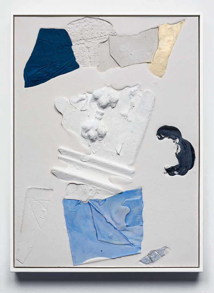 Mason Kimber Ivory/slide, acrylic, resin, synthetic polymer, gypsum and glass fibre on plywood, 65 x 44.7 cm, 2018