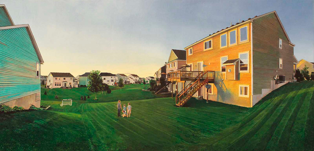 "Nate Burbeck ""Woodbury, Minnesota"", Oil on Canvas, 30 x 62 inches, 2015"