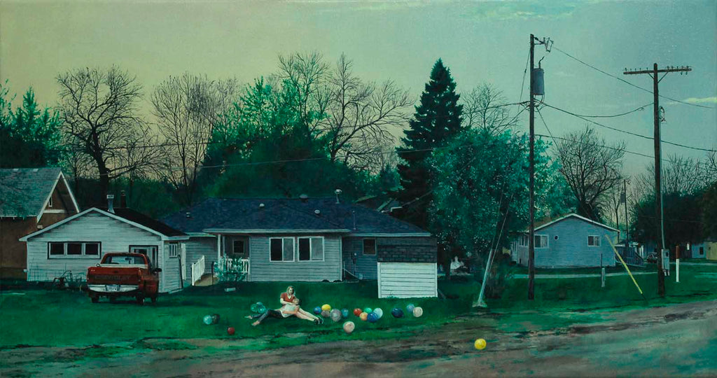 "Nate Burbeck ""Pipestone, Minnesota"", Oil on Canvas, 18 x 34 inches, 2015"