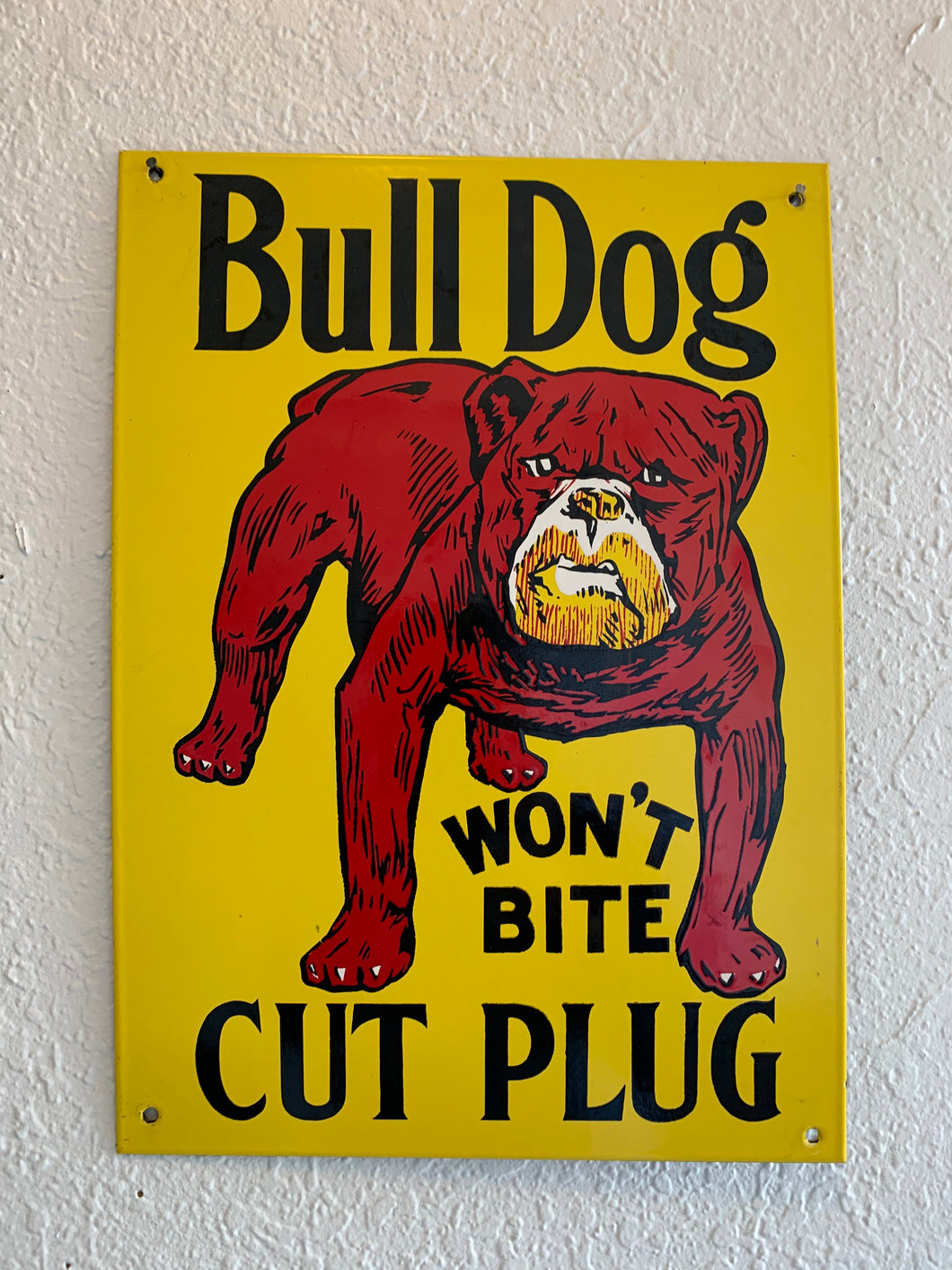 Bull Dog Tobacco Metal Sign
