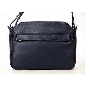 Classic Navy Nova Leather Handbag