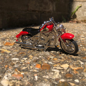 Miniature Clock - Red Motorbike