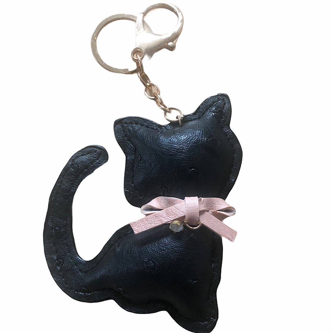 P.Leather Cat Keyring