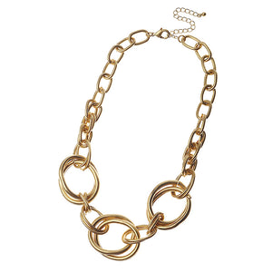 Gold Multi Ring Necklace